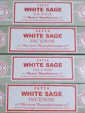 Satya Sai Baba White Sage Nag Champa 100G Grams Smudge Incense Sticks FREE SHIP