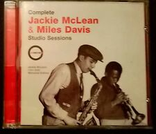 JACKIE McLEAN & MILES DAVIS Complete Studio Sessions 1951-55 CD free UK postage