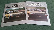 1984 1985 TOYOTA CAMRY 1.8 GL 2.0 GLi TURBO D UK BROCHURE + OUTER COLOUR FOLDER