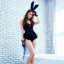 Women Sexy Black Bunny Halloween Party Cosplay Costume Nightwear Fancy Dress