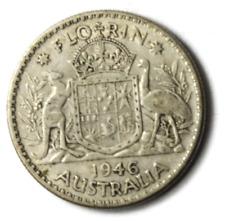 1946 Australia Florin Silver Coin KM# 40a