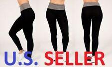 Women's Leggings Active Fold Over RAG Black/Grey S/M