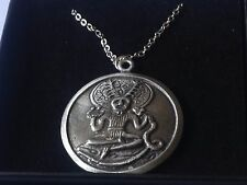 "Cernunnos code dr81 Made From Pewter On 18"" Silver Plated Curb Necklace"