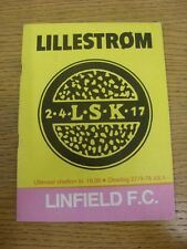 27/09/1978 Lillestrom v Linfield [European Cup] . Thanks for viewing our item, b