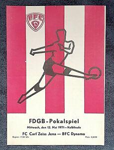 Orig. Programm Halbfinale FDGB Pokal BFC Dynamo Berlin FC Carl Zeiss Jena DDR