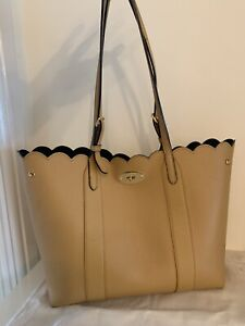 Mulberry Bayswater Tote Maize Yellow With Blue Suede Lining