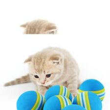 5PC RAINBOW BALL CAT TOY COLORFUL BALL INTERACTIVE PET NATURAL FOAM FREE SHIPPIN