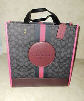 Coach Dempsey Tote in Signature Jacquard with Stripe and COACH Patch NWT