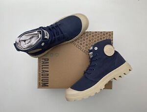 BNIB PALLADIUM Pampa Hi Organic Trainers Boots Indigo 5 38  Guaranteed Genuine