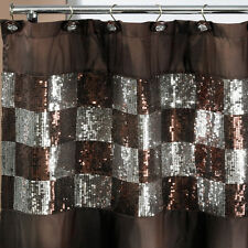 Popular Bath Elite Orb 70 x 72 Bathroom Fabric Shower Curtain & Hook Set