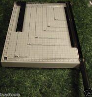 "Office PAPER CUTTER Trimmer Cut Legal Size BIG 12"" x 16"" Metal Construction NEW"