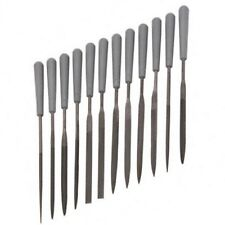 NEEDLE FILE SET WITH HANDLES 12 Pc Hobby Tools Files Scale Modeling Trains I