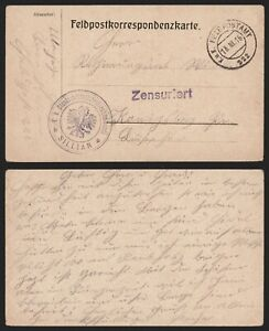 Austria 1916 - Field Post Postcard - Censor E364