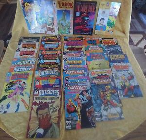 Lot 36 DC Comic Books+ 1970's 1980 Turok #1 Batman Outsiders Firestorm Superman