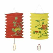 Chinese Paper Lanterns Pack of 2 Decorated Lanterns 6x9 inches