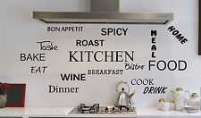 LARGE Kitchen Wall Quote Stickers Cafe Vinyl Art Decals Decor DIY