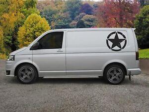 Huge Star Van Vinyl Sticker Decal x 2