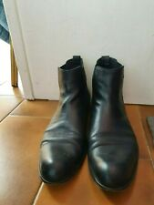 Guy Laroche Mens Leather Chelsea Boots / Color Black /EU SIZE 46