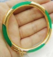 Fashion Women Jewelry Jade 18K Gold Plated Bracelet Bangle Bracelet Party Gift