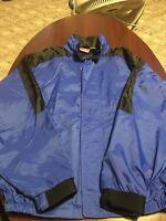 VTG Marlboro Unlimited BLUE 100% Nylon Windbreaker Full Zip Mens Jacket Large L