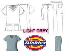 New Dikies Medical Scrubs Women>Eds>Pant or Top 85906>Light Grey>Size Xxs-Xl