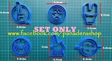 Avengers Thor Iron Man Flash Captain America Cookie Fondant Cutter Mold SET