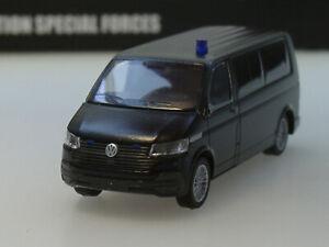 Rietze VW T6.1 Bus LR Polizei, ZOLL, Spezialeinsatzkommando, black, 53823 - 1:87