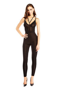 Strapped Up Strappy Microfiber Catsuit Bodystocking Lingerie Adult Women 2534