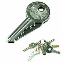 Creative Fold Key Shaped Folding Pocket Key Metal Self Tool EDC C5X K2M7