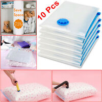 10x Strong Vacuum Storage Bags Space Saving Compressed Bag Vacuum Pack Saver