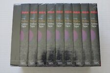 RCA T-120 HI-FI Stereo Blank VHS Video Tapes 6 Hour New Sealed 10 Pack