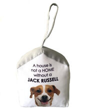Shabby French Provincial Fabric Jacket Russell Dog Door Stop Stopper
