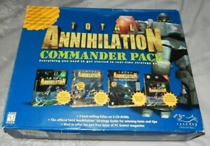 TOTAL ANNIHILATION BIG BOX COMMANDER Pack 3 PC games & strategy guide 1997 VGC