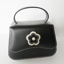 Annaleece Travel Jewelry Tote - Black Leather - Divided Compartments Compact
