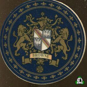 English Heraldic Coaster: Browne