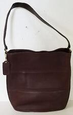 Vintage COACH dark brown leather TRIBECA 9083 shoulder BAG bucket TOTE