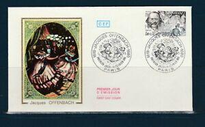 enveloppe 1er jour  musique  Jacques  Offenbach   75 Paris   1981