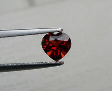 Garnet heart loose faceted natural gem 6mm