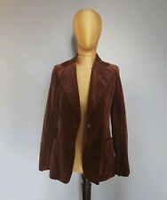 Chocolate Brown 1970s Jh Union-Made Velvet Blazer S