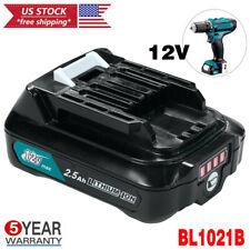 NEW Battery For Makita 12V MAX CXT Lithium BL1021B BL1020B BL1041B BL1016 2.5Ah