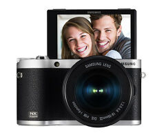 SAMSUNG NX300M Smart Camera with 18-55mm Lens Black/Self-Shot NEW