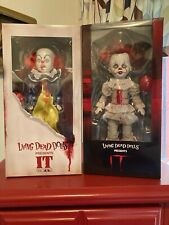 PENNYWISE DUO Living Dead Dolls Horror Movie IT 1990 / 2017 NEW & SEALED BOXES