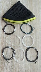 Leader pouch/pack full of 7 Trout/Salmon Polyleaders, look unused. Fly fishing