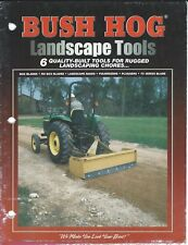 Farm Equipment Brochure - Bush Hog - Landscape Box Blade Chipper 4 items (F5743)