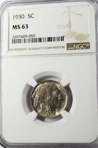 1930 Buffalo Nickel 5c NGC MS63