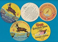 Selection of all different cheese labels ettiquette Fromage formaggio kase #500
