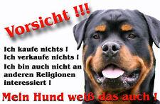 Rottweiler Alu A4 Warnschild ( R40 )