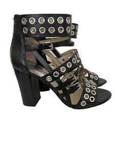 Michael Kors Maddox Studded Detail Sandal In Leather, Black, Size 39.5/6.5