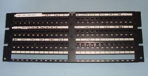"Data Patch Panel 4U Black 96 Port Plate with 72 Port RJ45 Modules Cat-5 UTP 19"""