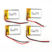 4X 3.7V 300mAh 602030 Li Polymer LiPo Rechargeable 1.25connector Battery For mp4